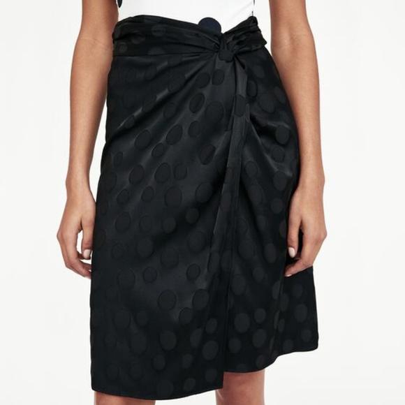 Zara Dresses & Skirts - Zara Size M Jacquard Polka Dot Wrap Skirt